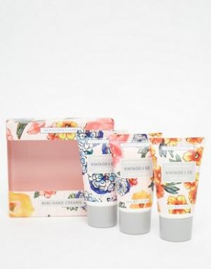 Beauty Extras Три мини-крема для рук Vintage & Co Patterns Petals 3 x 30 мл. Цвет: бесцветный