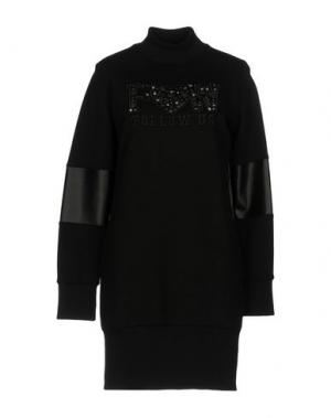 Короткое платье FOLLOW US. Цвет: черный