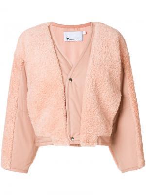 Утепленная куртка T By Alexander Wang. Цвет: розовый и фиолетовый