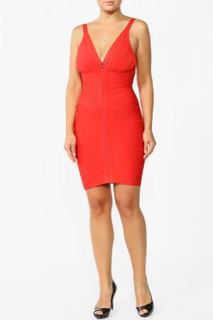 Платье Herve Leger. Цвет: красный