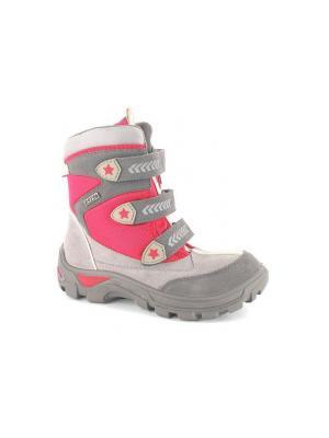 Ботинки Bartek. Цвет: серый,розовый