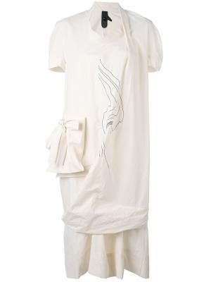 Асимметричное платье с накладным карманом Bernhard Willhelm. Цвет: none