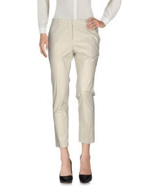 Повседневные брюки LES COPAINS. Цвет: светло-серый