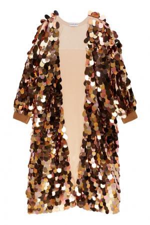 Халат с золотистыми пайетками Chapurin. Цвет: розовый
