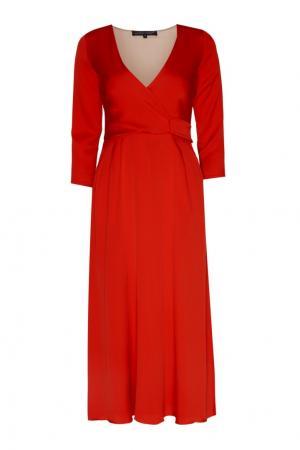 Шелковое платье Alexander Terekhov. Цвет: красный