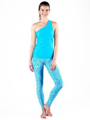 Леггинсы Blue Line Urban Yoga. Цвет: серо-голубой