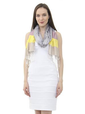 Платок Infiniti. Цвет: серый, бежевый, желтый, розовый