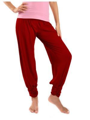 Брюки yogadress. Цвет: бордовый