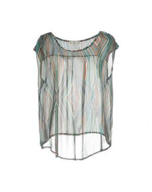 Блузка FREE for HUMANITY. Цвет: зеленый