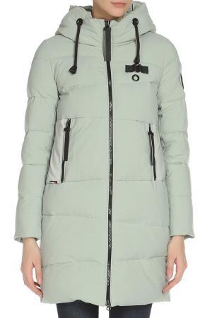 Пальто PURELIFE. Цвет: оливковый