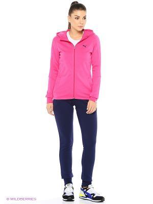 Костюм спортивный  STYLE BEST Sweat Suit W cl Puma. Цвет: розовый, синий