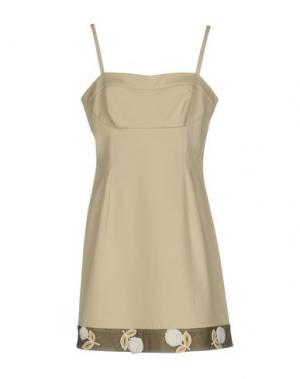 Короткое платье GIO' GUERRERI. Цвет: бежевый