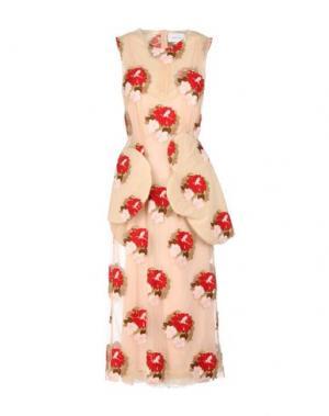 Платье длиной 3/4 SIMONE ROCHA. Цвет: песочный