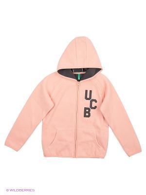 Толстовка с капюшоном United Colors of Benetton. Цвет: персиковый, кремовый, бледно-розовый