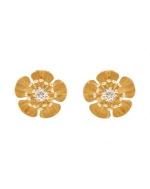 Серьги CA&LOU. Цвет: золотистый