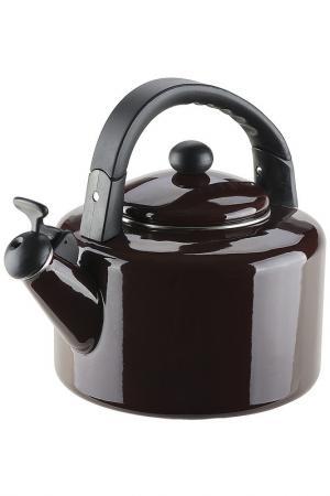 Эмалированный чайник, 2,5 л Granchio. Цвет: коричневый