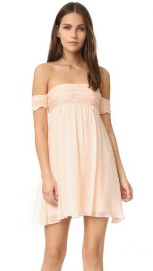 Платье с открытыми плечами Rachel Zoe. Цвет: розовый