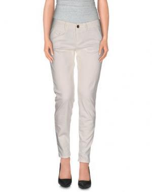 Повседневные брюки MAISON CLOCHARD. Цвет: слоновая кость