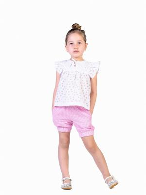 Шорты ETE CHILDREN. Цвет: розовый, белый