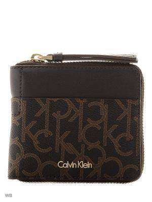 Кошелек Calvin Klein. Цвет: коричневый