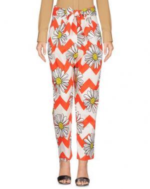 Повседневные брюки WHITE*. Цвет: красный