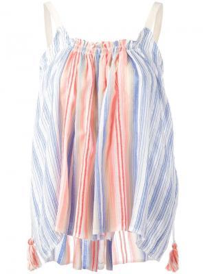 Блузка Aden Lemlem. Цвет: синий
