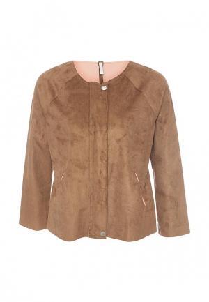 Куртка кожаная Please. Цвет: коричневый