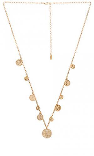 Ожерелье с монетами на подвесе Ettika. Цвет: металлический золотой
