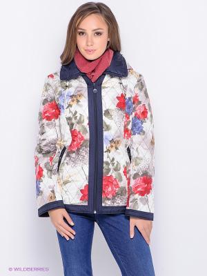 Куртка VIZANI. Цвет: белый, темно-зеленый, темно-красный, сиреневый, горчичный