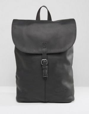 Eastpak Черный кожаный рюкзак Ciera. Цвет: черный