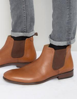 Red Tape Светло-коричневые кожаные ботинки челси. Цвет: рыжий