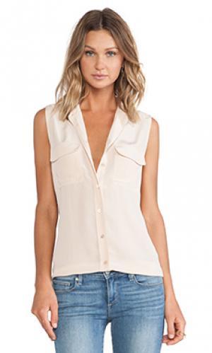 Блуза без рукавов slim signature Equipment. Цвет: беж
