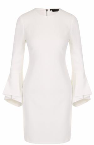 Приталенное мини-платье с расклешенными рукавами Alice + Olivia. Цвет: белый