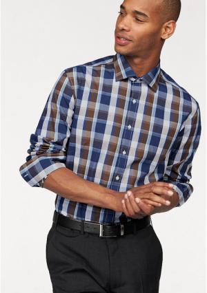 Рубашка Class International. Цвет: коричневый/белый/синий в клетку