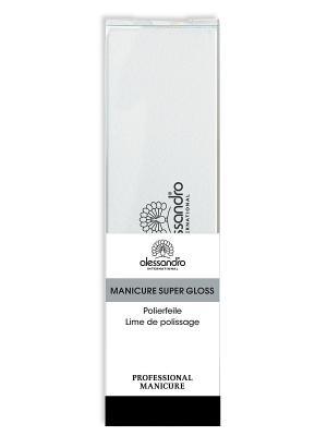 Полировочный баф  для маникюра alessandro. Цвет: черный, белый, серый меланж