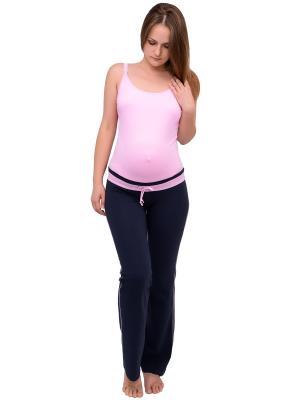 Спортивные брюки для беременных Flammber. Цвет: темно-синий, розовый