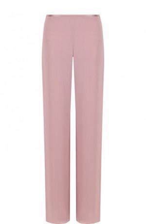 Однотонные расклешенные брюки Giorgio Armani. Цвет: розовый