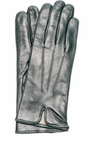 Кожаные перчатки Sermoneta Gloves. Цвет: темно-зеленый
