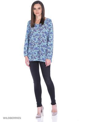 Свободная блузка UNIT. Цвет: голубой