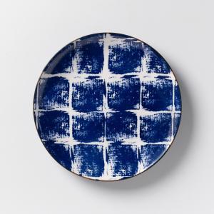 Комплект из 4 десертных тарелок керамики Malado AM.PM.. Цвет: горчичный,индиго