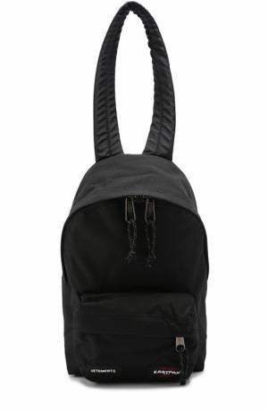 Текстильный рюкзак  X Eastpack Vetements. Цвет: черный