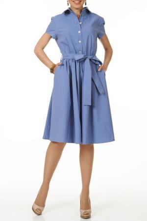Летнее повседневное платье Argent. Цвет: голубой