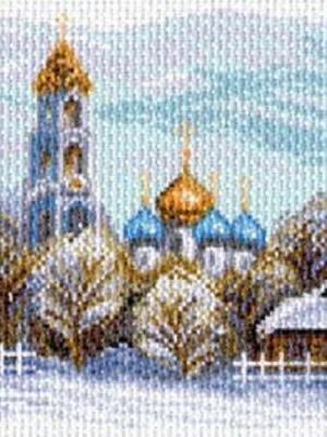 Рисунок на канве Сергиев Посад Матренин. Цвет: белый, золотистый