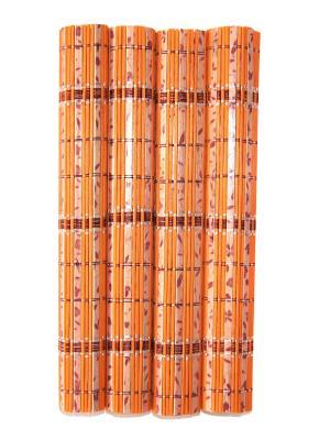 Бамбуковые плейсматы, 4 шт DiMi. Цвет: оранжевый
