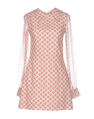 Короткое платье AU JOUR LE. Цвет: слоновая кость