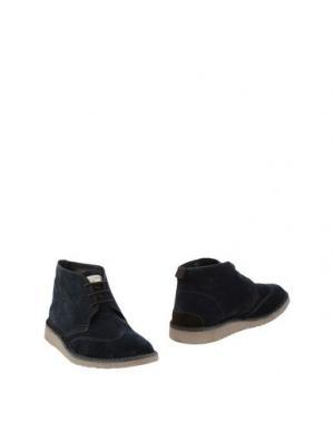 Полусапоги и высокие ботинки ANGELO NARDELLI. Цвет: темно-синий
