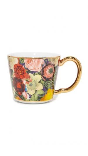 Чашка с цветочным рисунком Gift Boutique. Цвет: мульти
