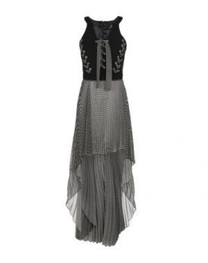 Длинное платье ELISABETTA FRANCHI. Цвет: черный