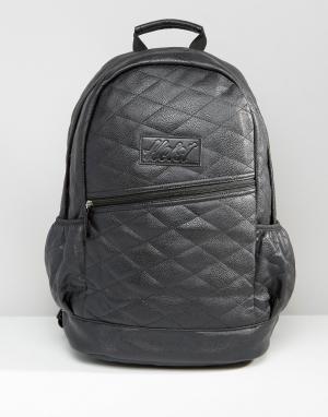 Heist Стеганый рюкзак из искусственной кожи. Цвет: черный