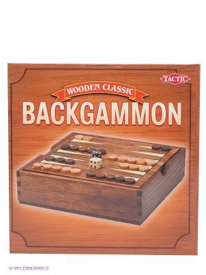 Нарды, мини Tactic Games. Цвет: коричневый, белый, кремовый, серо-коричневый